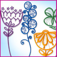 Avant Garden flowers machine embroidery design.