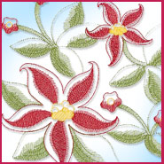 Sheer Floral Bouquet machine embroidery design.