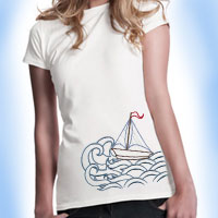 Free tips for embroidering on T-shirts.