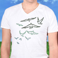 Free project instructions for embroidering on T-shirts.