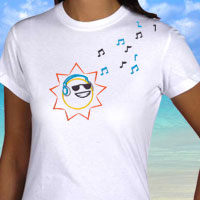 Free instructions for embroidering on T-shirts.