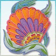Romantic Roses machine embroidery design.