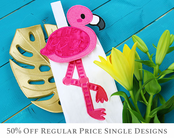 Embroidery Library - 50% Off Regular Price Single Designs