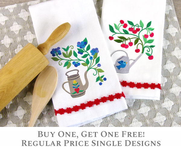 Embroidery Library - Buy One, Get One Free!