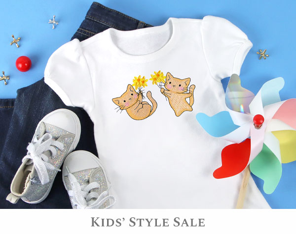 Embroidery Library - Kids' Style Sale