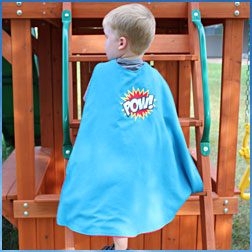 Free project instructions to make a child's cape.