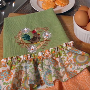 How to make an embroidered ruffle towel