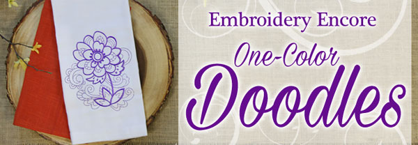 Embroidery Encore - One-Color Doodles
