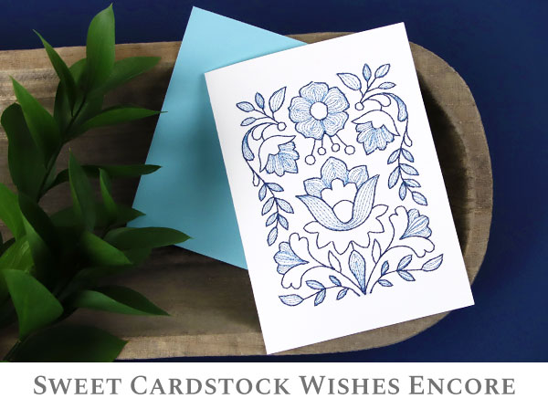 Embroidery Library - Sweet Cardstock Wishes Encore