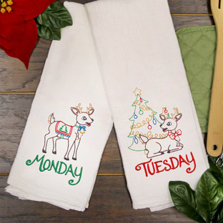 Featured Pack - Days of the Week Reindeer (Vintage)
