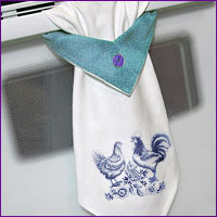 Create a topsy towel with this free project for machine embroidery.