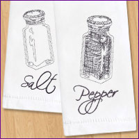 Get tips and tricks for embroidering on flour sack and tea towels with machine embroidery designs.