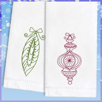 Read the fabrics 101 article to find out how to embroider on tea towels and flour sack towels with machine embroidery designs.