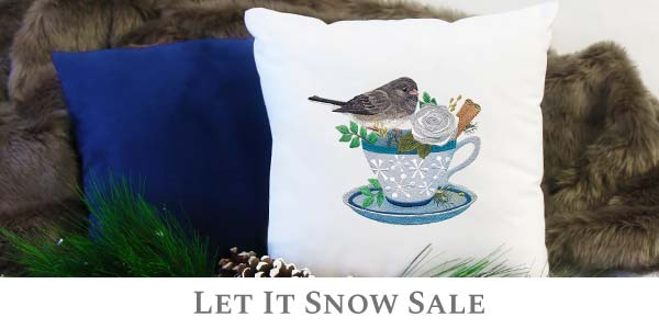Embroidery Library - Let it Snow Sale