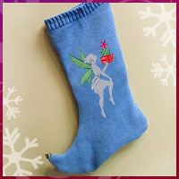 Learn how to create a sweater Christmas stocking with these free project instructions using machine embroidery designs.