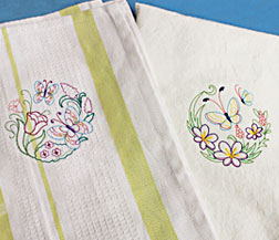 Quick-stitching vintage embroidery designs.