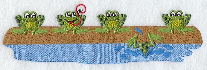 5 frogs on a log 4 jump off