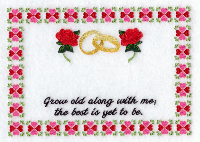 Anniversary gifts embroidery � origami