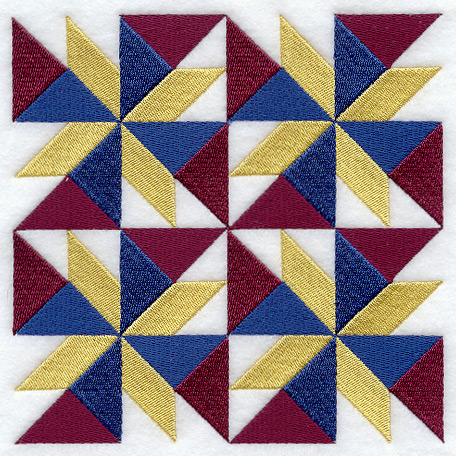 Machine Embroidery Designs at Embroidery Library! - Embroidery Library : twisted star quilt block - Adamdwight.com
