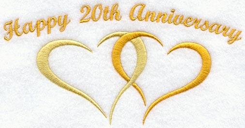 10 Year Wedding Anniversary Symbol Happy Anniversary 20