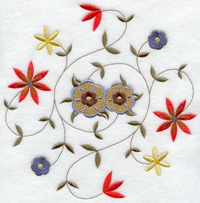 C4578r nakış için çiçek tasarımları