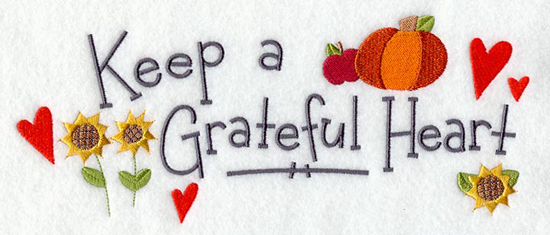 Give Thanks Napkin Embroidery Design