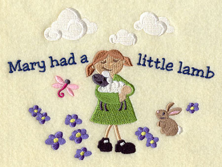Create A Warm Atmosphere For Babies And Toddlers With This Classic Nursery Rhyme Mary Had Little Lamb Embroidered On Wall Hangings Crib Bumpers