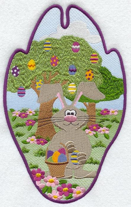 Easter Bunny Track Scene