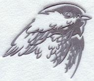 A chickadee silhouette machine embroidery design.