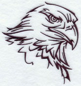 An eagle silhouette machine embroidery design.