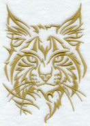 A lynx silhouette machine embroidery design.