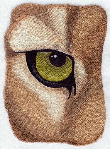 Cougar eye machine embroidery design