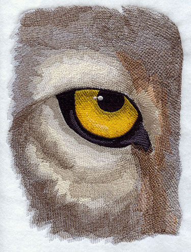 Wolf eye machine embroidery design