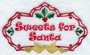Christmas sweets for Santa machine embroidery design.