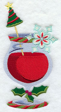 A Christmas daquiri machine embroidery design.