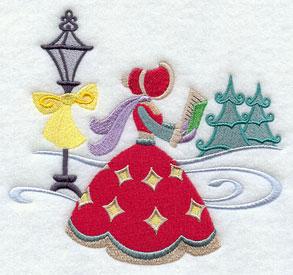 Christmas Carol singing carols machine embroidery design.