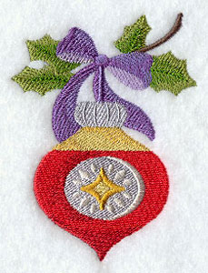 An antique Christmas ornament machine embroidery design.