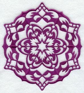 A Wycinanki snowflake machine embroidery design.