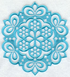 A Wycinanki snow flake machine embroidery design.