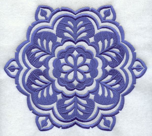 A Wycinanki snowflake machine embroidery design.