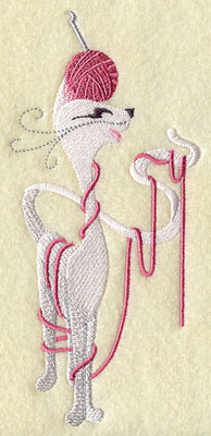 Crocheting kitty cat machine embroidery design.