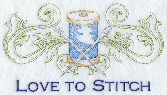 Love to stitch machine embroidery design.