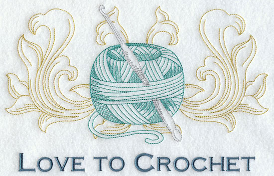 Love to crochet machine embroidery design.
