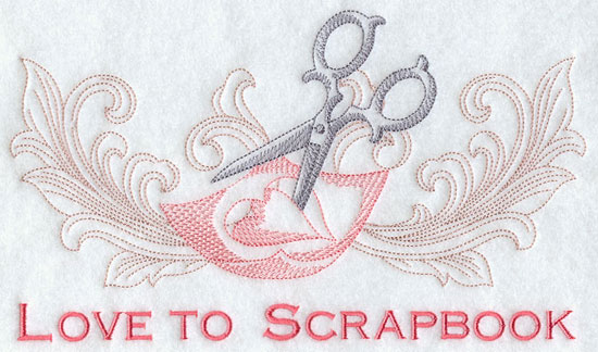 Love to scrapbook machine embroidery design.