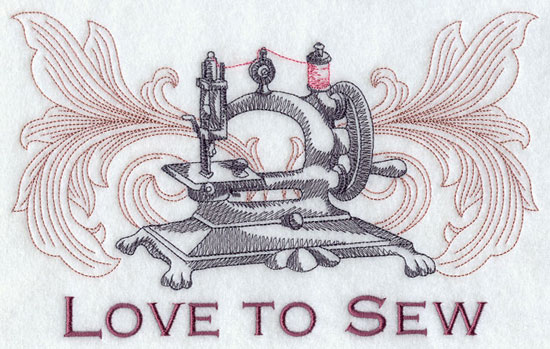 Love to sew machine embroidery design.