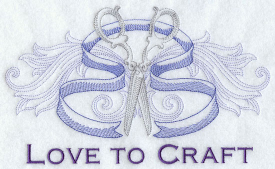 Love to craft machine embroidery design.
