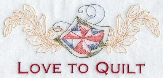 Love to quilt machine embroidery design.