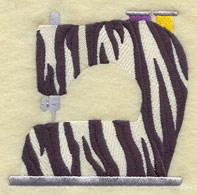 Zebra print sewing machine machine embroidery design.