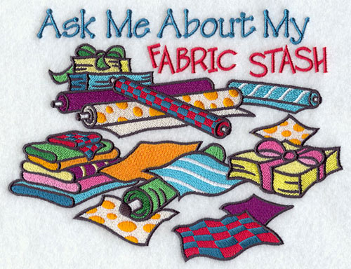 Ask me about my fabric stash machine embroidery design.
