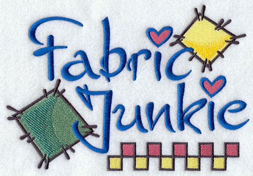 Fabric junkie machine embroidery design.